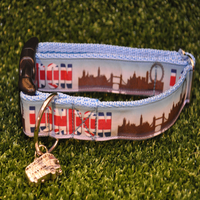 London Skyline Dog Collar - Custom Dog Collars