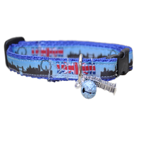 London Skyline Puppy/Small Dog Collar - Custom Dog Collars