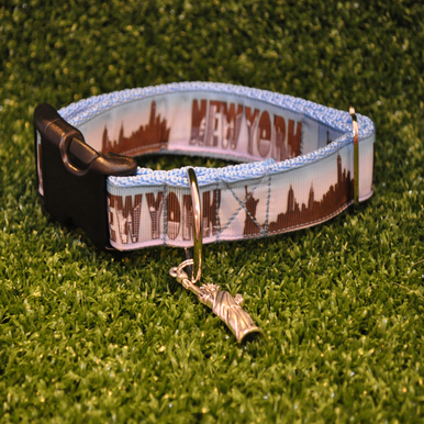 New York Skyline Dog Collar - Custom Dog Collars