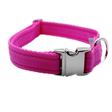 Plain Collar with Silver Side Release - Custom Dog Collars