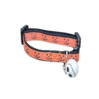 Halloween Pumpkin Face Shapes Puppy/Small Dog Collar - Custom Dog Collars