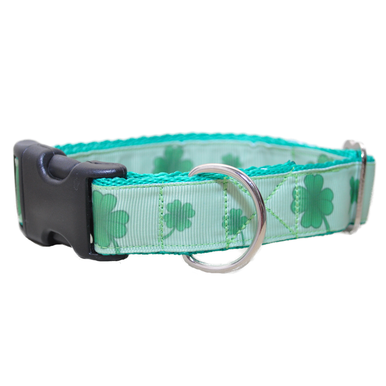 Shamrock 4 Leaf Clover Ribbon Dog Collar