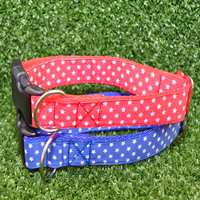 White Stars Ribbon Collar