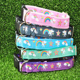 Unicorn Rainbow Ribbon Dog Collar *Other Colours Available*