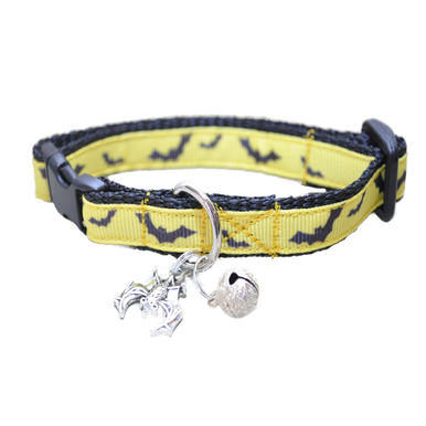 Yellow & Black Bats Inspired by Batman Kitten/Cat Collar