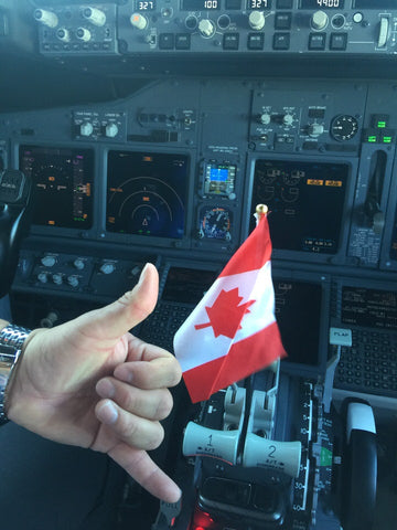 happy canada day from the flight deck of a 737-800