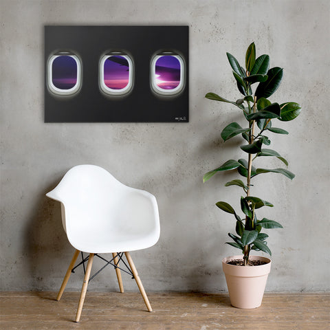Aircraft windows canvas art for your home Boeing Dreamliner