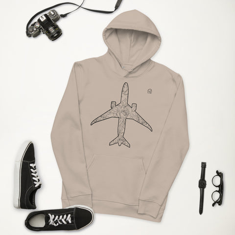 eco hoodie aircraft inspired street wear