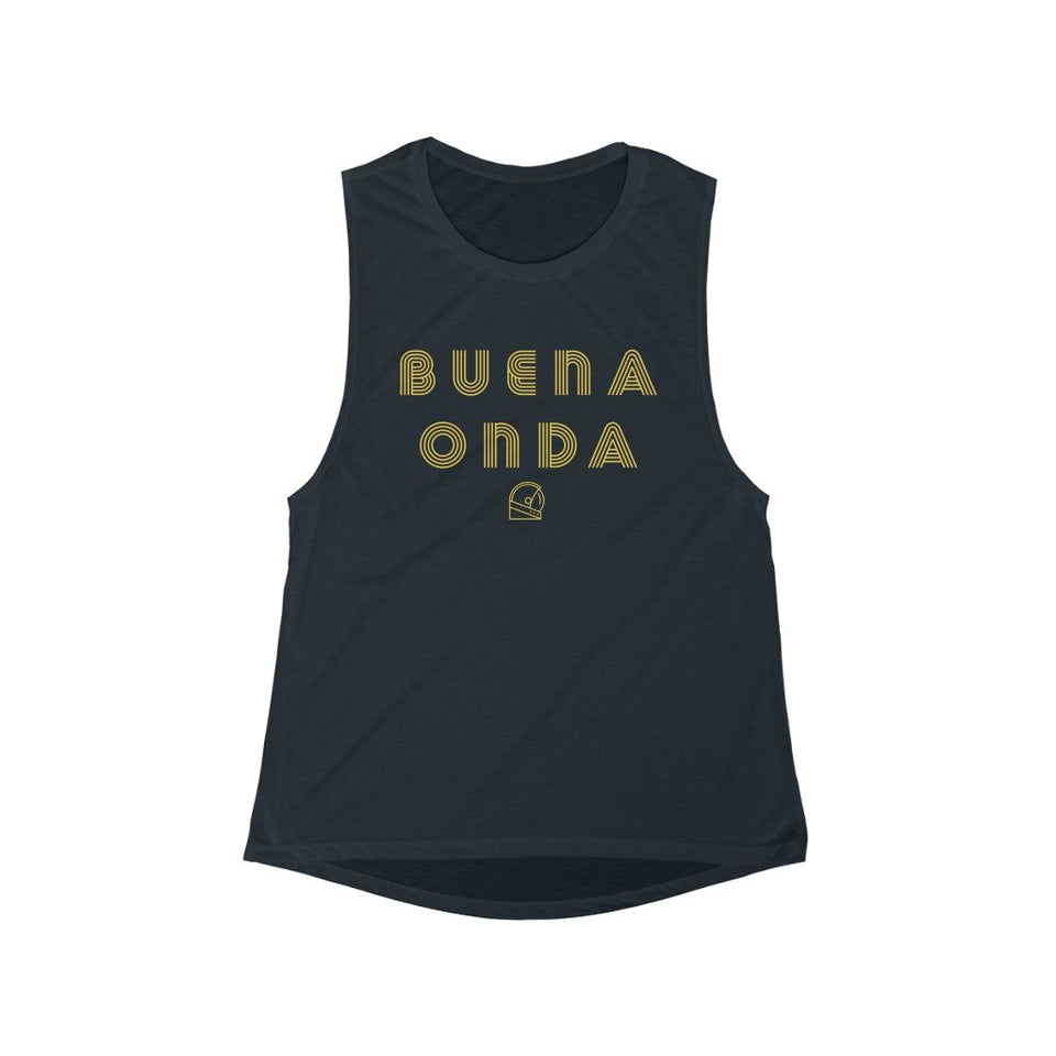 Buena Onda Women's Scoop Muscle Tank - Moondream Studios