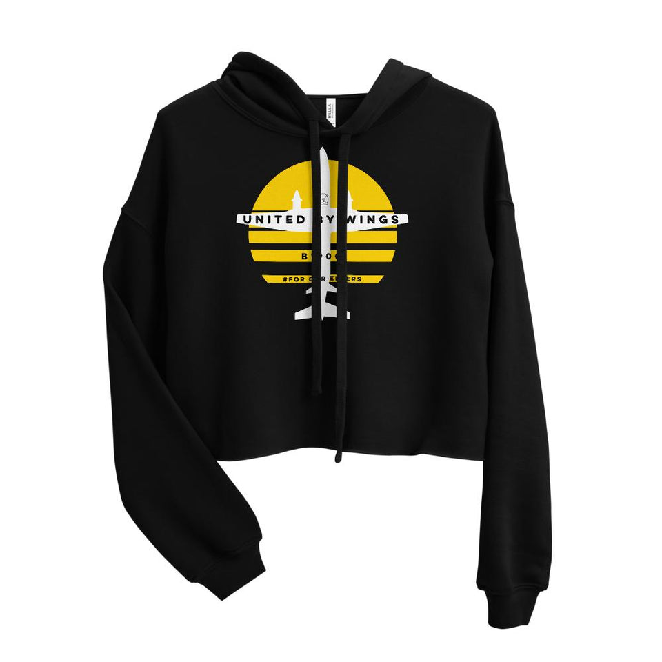 Beech 1900 Women's Crop Hoodie - Moondream Studios Eclipse Apparel Minimalist clothing design