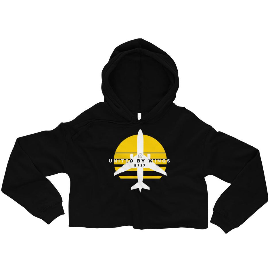 Boeing 737 Women's Crop Hoodie - Moondream Studios