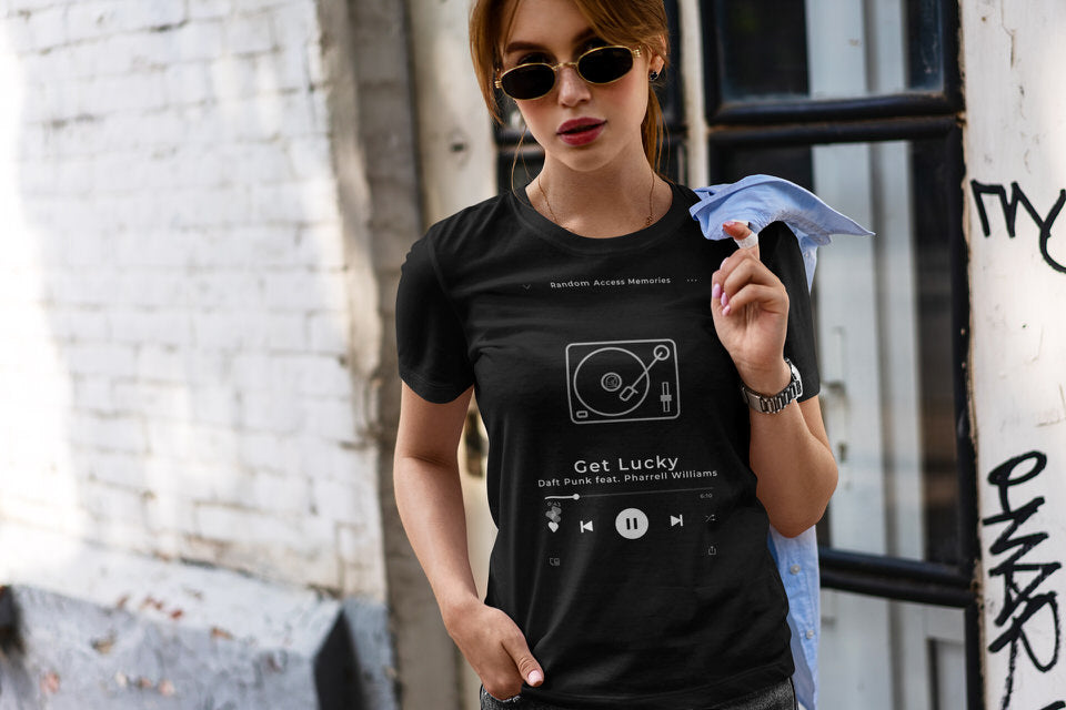 Now Playing - Customizable Women's Slim Fit Graphic Tee