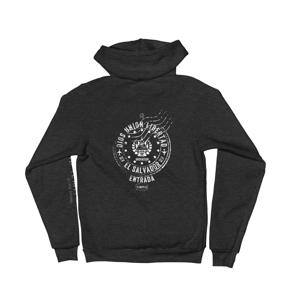 Graphic Hoodie San Salvador passport stamp