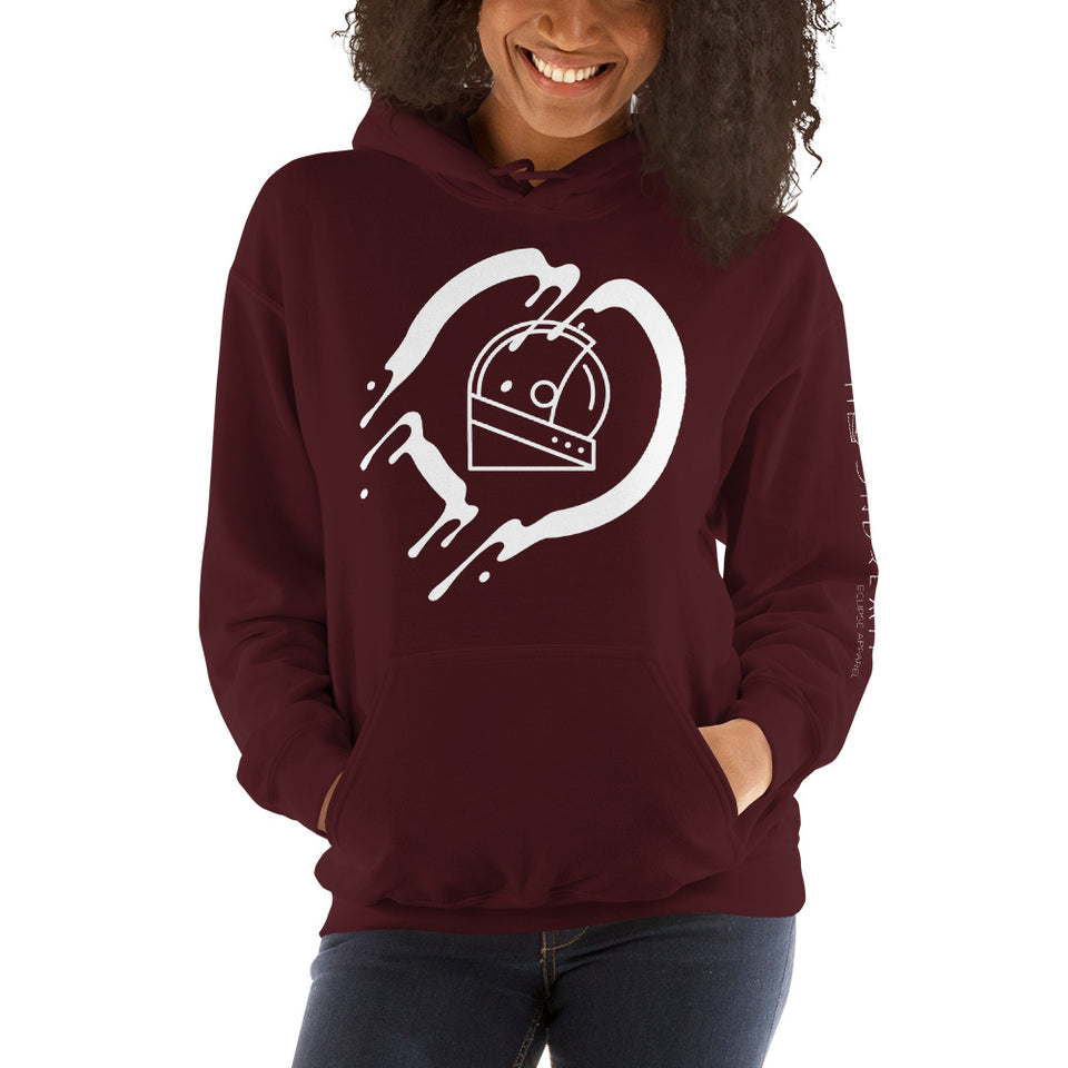 maroon moondream graphic unisex hoodie
