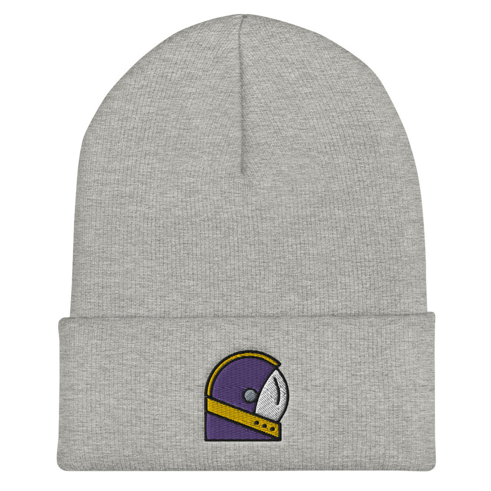 Moondream Purple Logo Cuffed Beanie