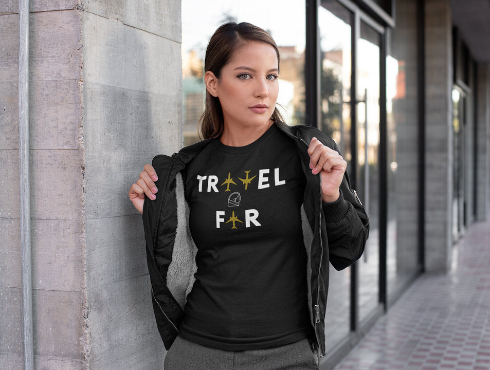 Travel Far Custom Aviation womens slim fit tee