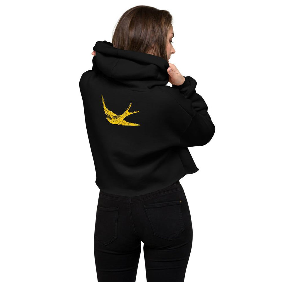 Buena Onda Crop Hoodie - Moondream Studios Eclipse Apparel Minimalist clothing design