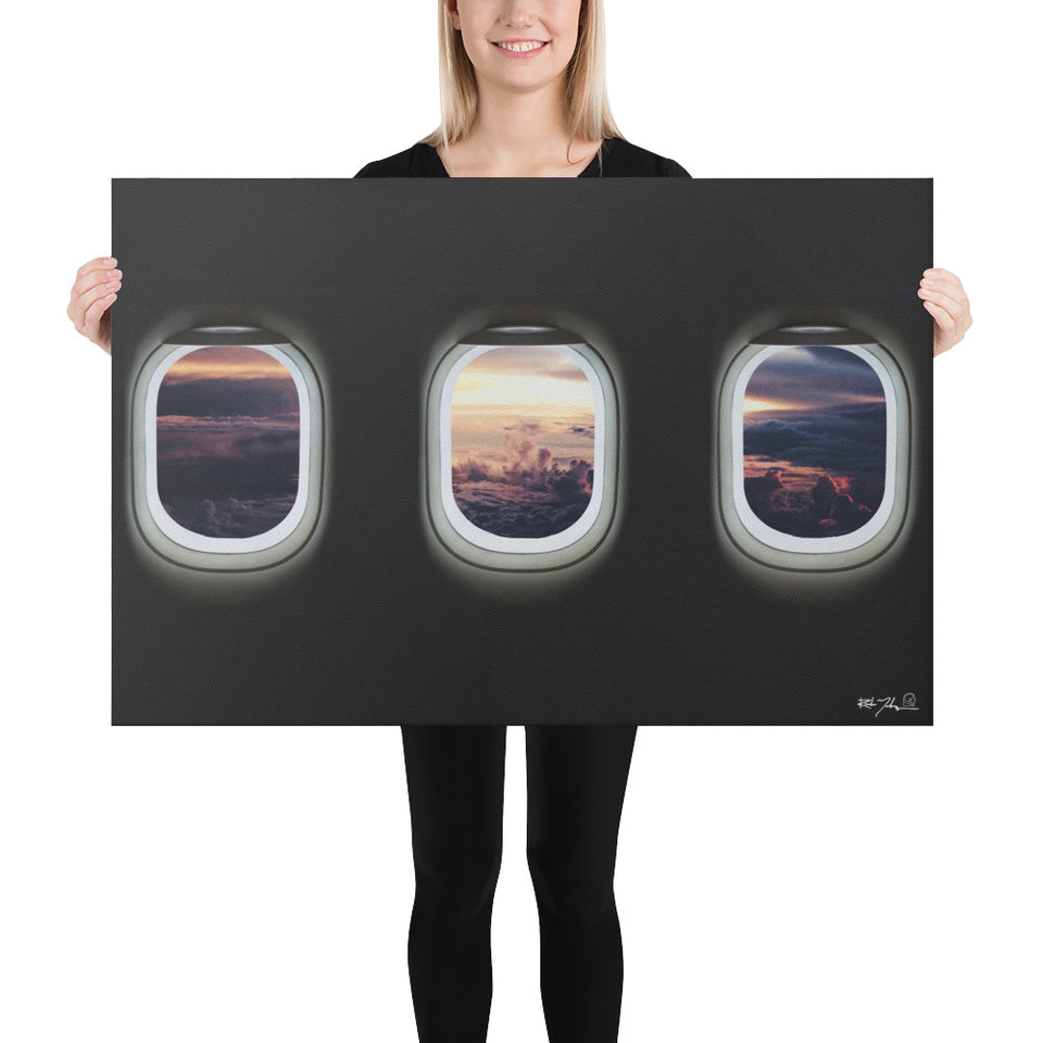 Aircraft windows Canvas Print