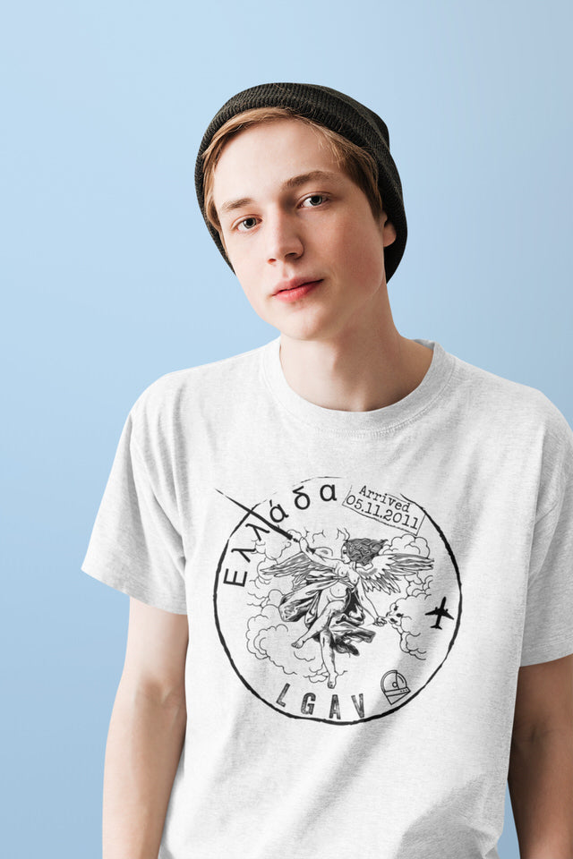 Graphic Tee • Greece Pasport Collection Unisex Shirt