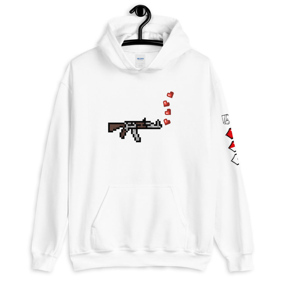 Kill 'em with Luv Graphic Unisex Hoodie