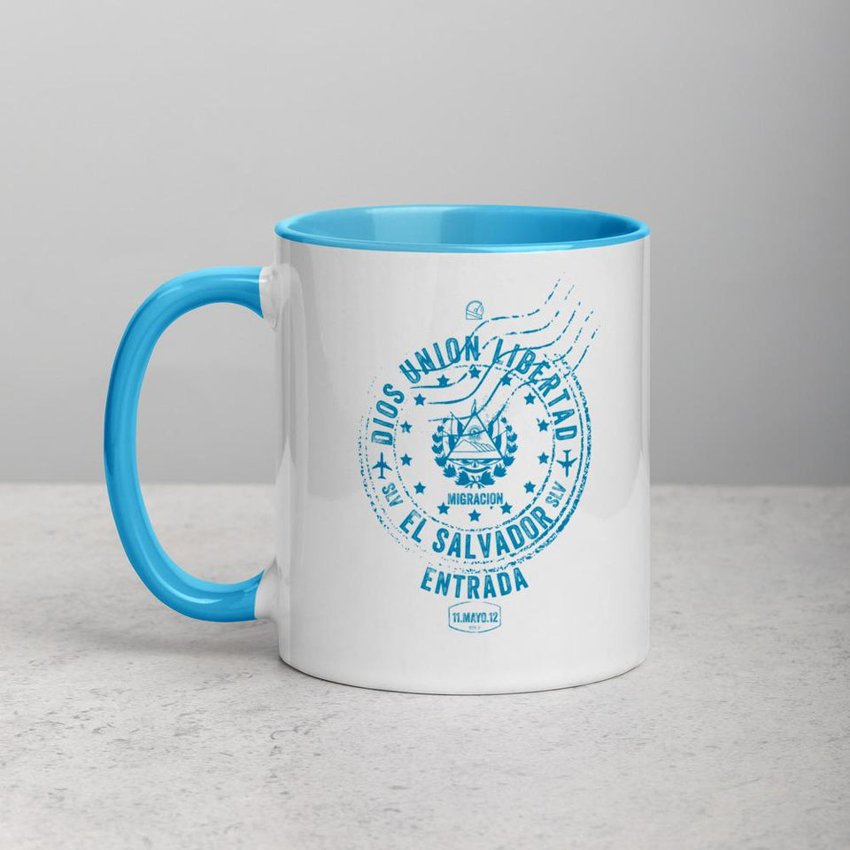 el salvador passport stamp mug