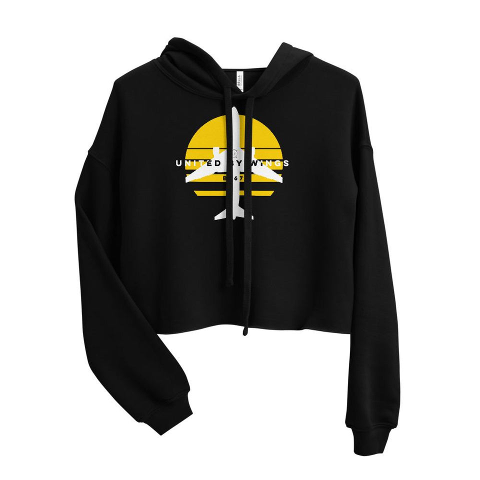 Boeing 767 Women's Crop Hoodie - Moondream Studios