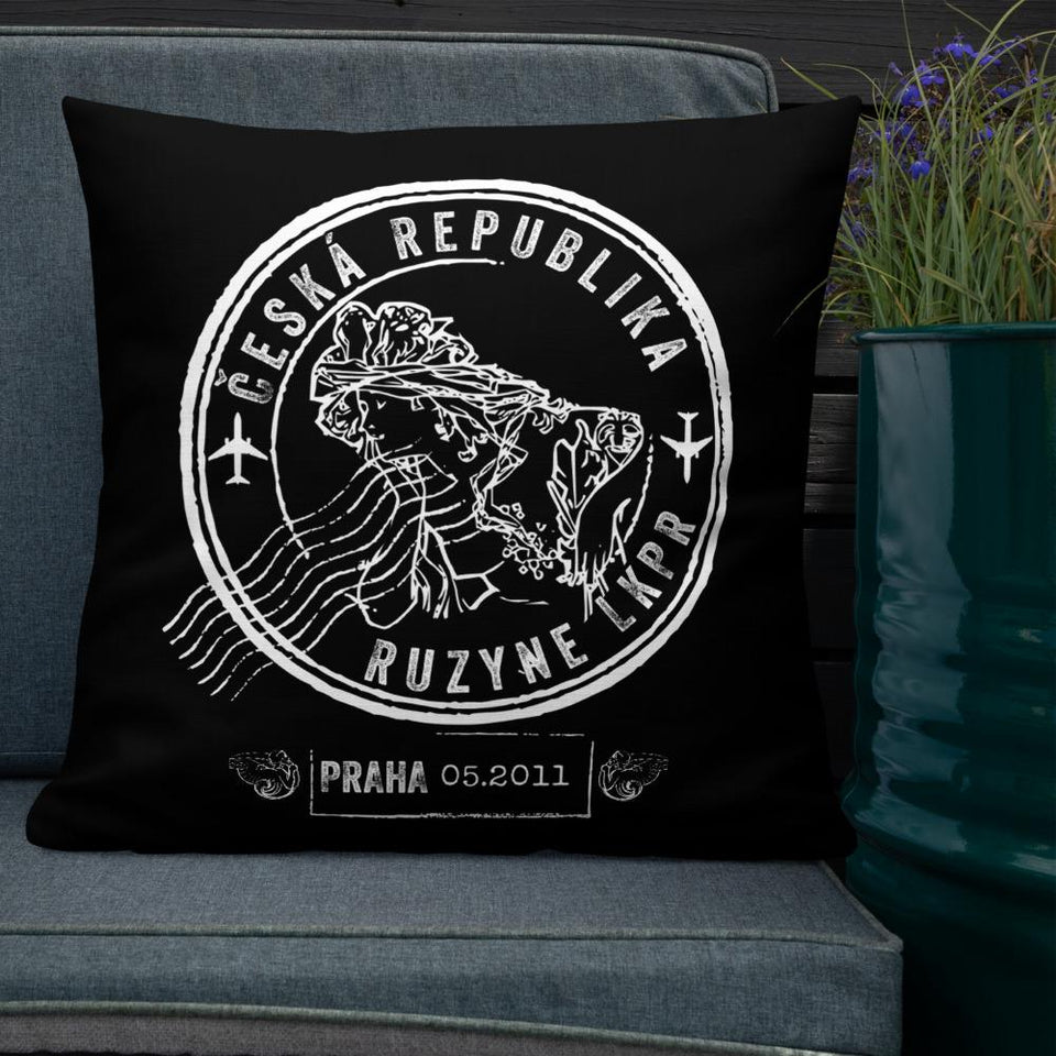 prague Ruzyne custom pillow