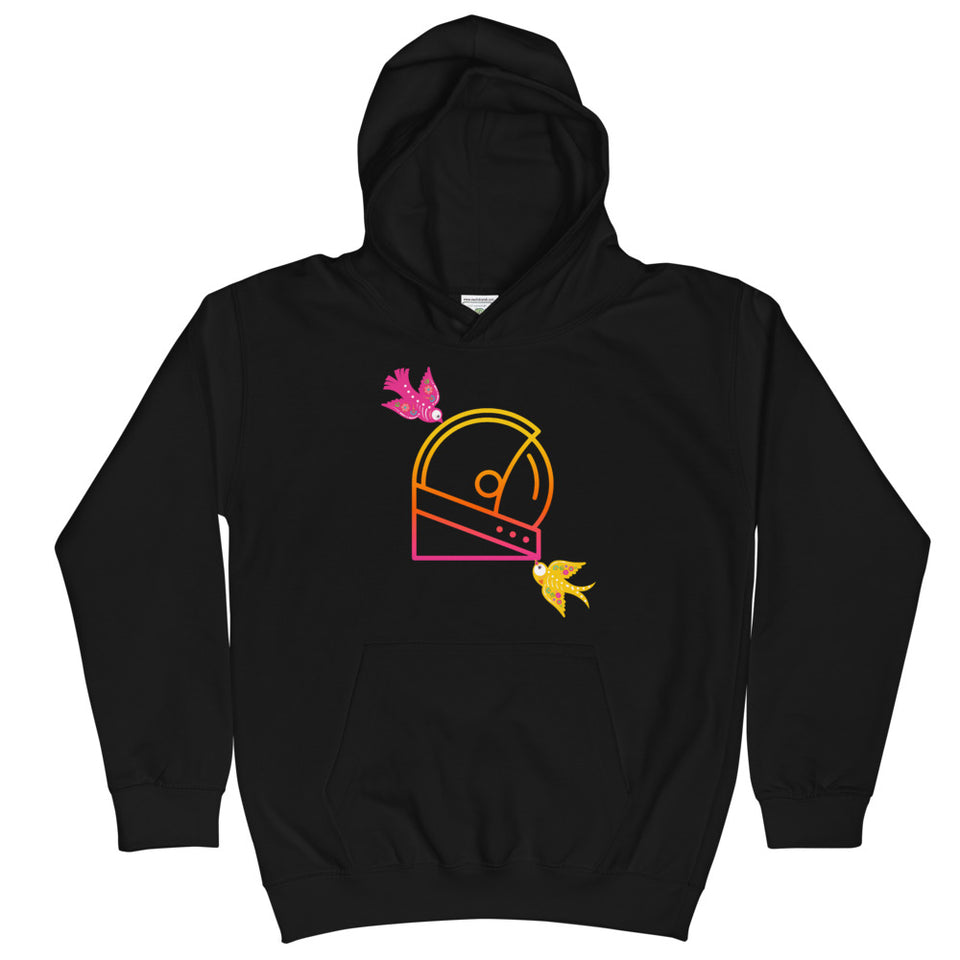 day of the dead graphic kids hoodie