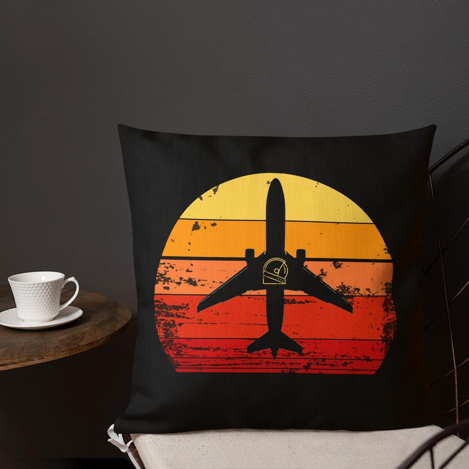 Boeing 737 sunrise custom pillow