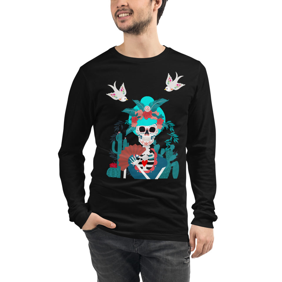 Graphic Long Sleeves • Doña Mimi Day of the Dead Unisex Shirt