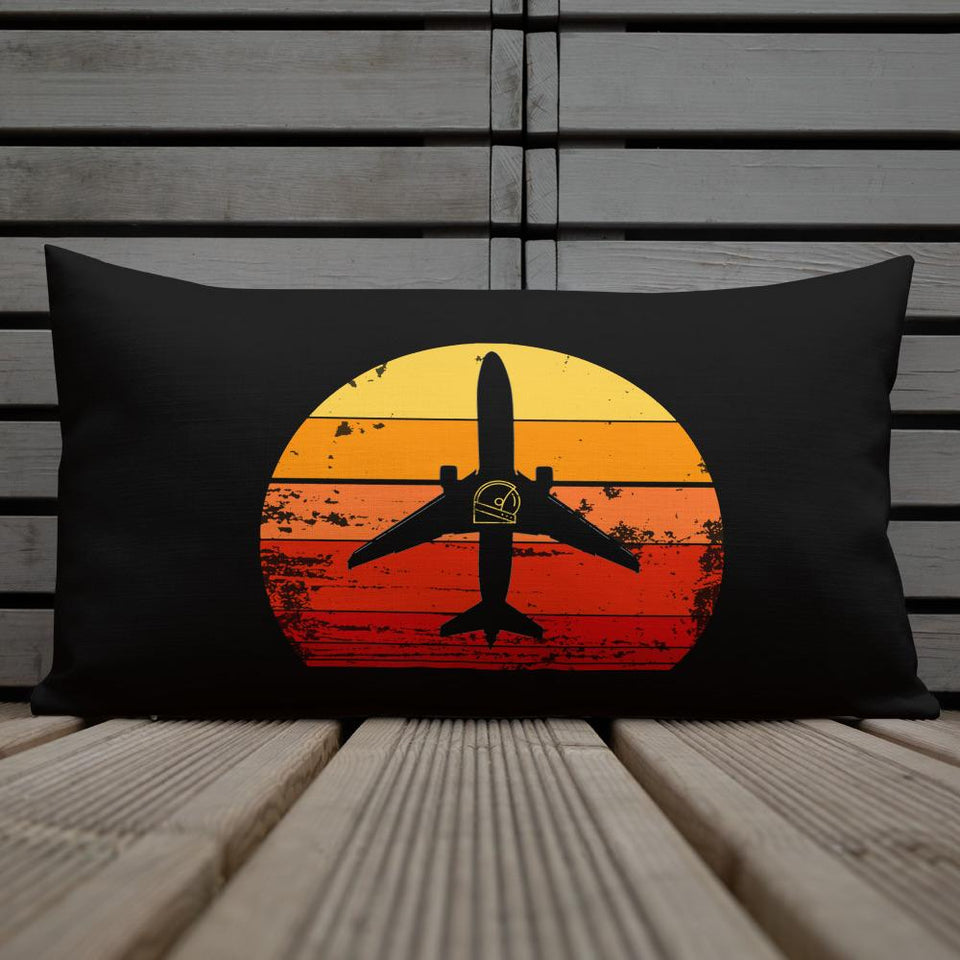 boeing 737 sunrise pillow