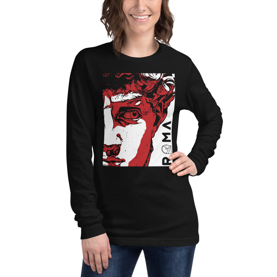 the david unisex graphic long sleeve shirt