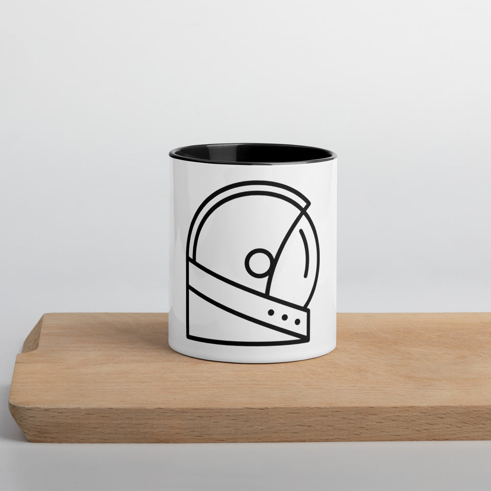 Moondream Helmet Mug with Color Inside - Moondream Studios Eclipse Apparel Minimalist clothing design