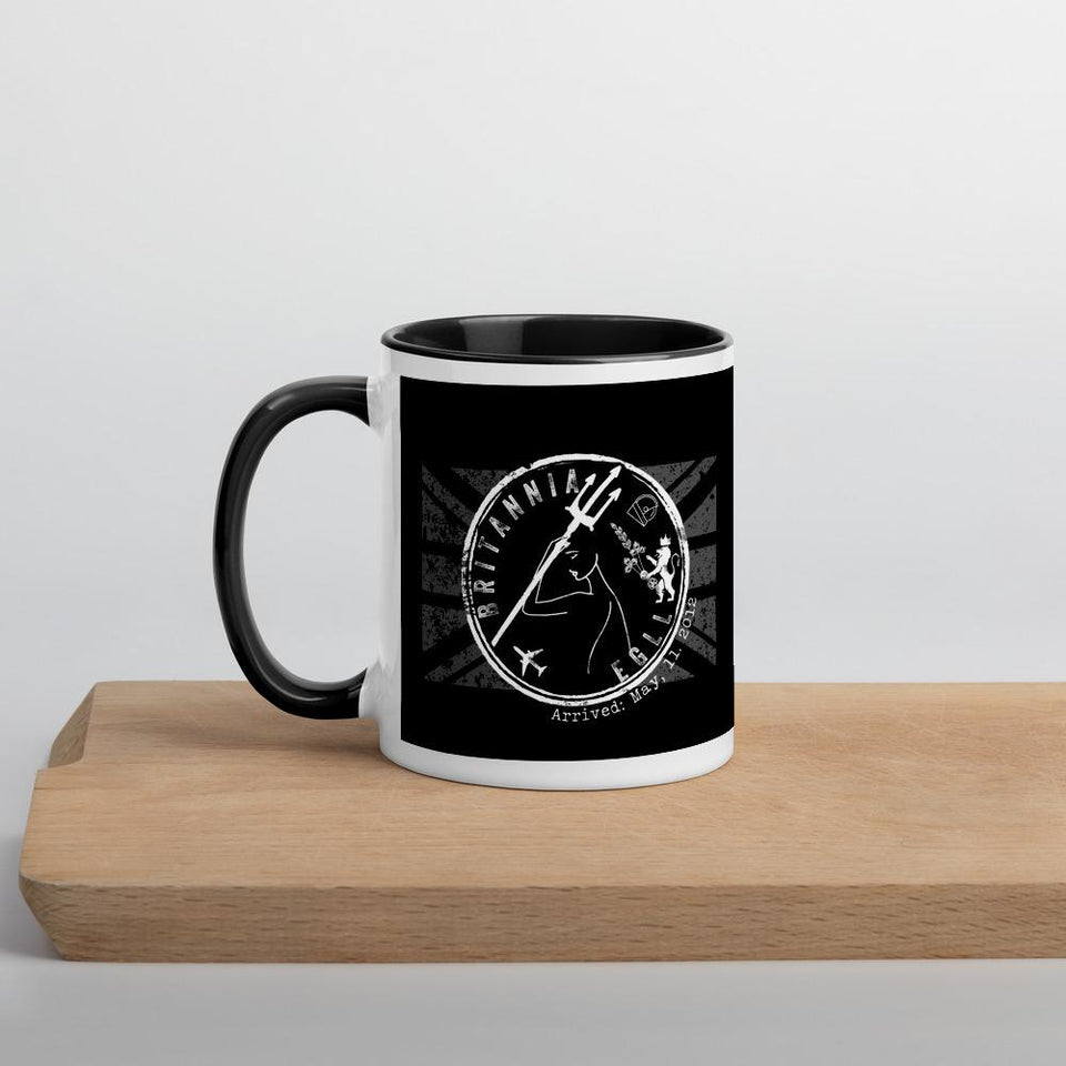 Britannia airport stamp custom mug