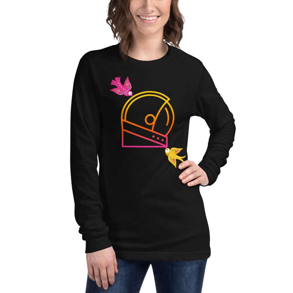 Day of the dead custom graphic long sleeve moondream logo