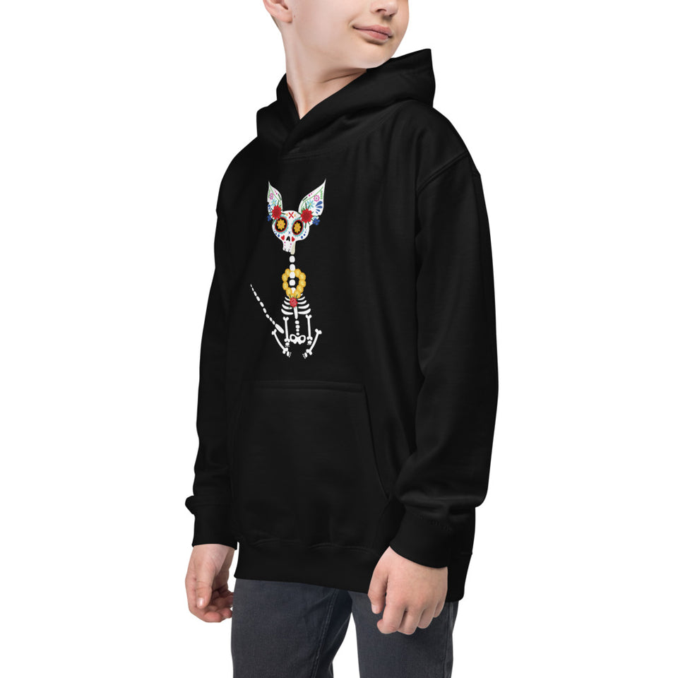 Graphic Kids Hoodie • Firulais Day of the Dead