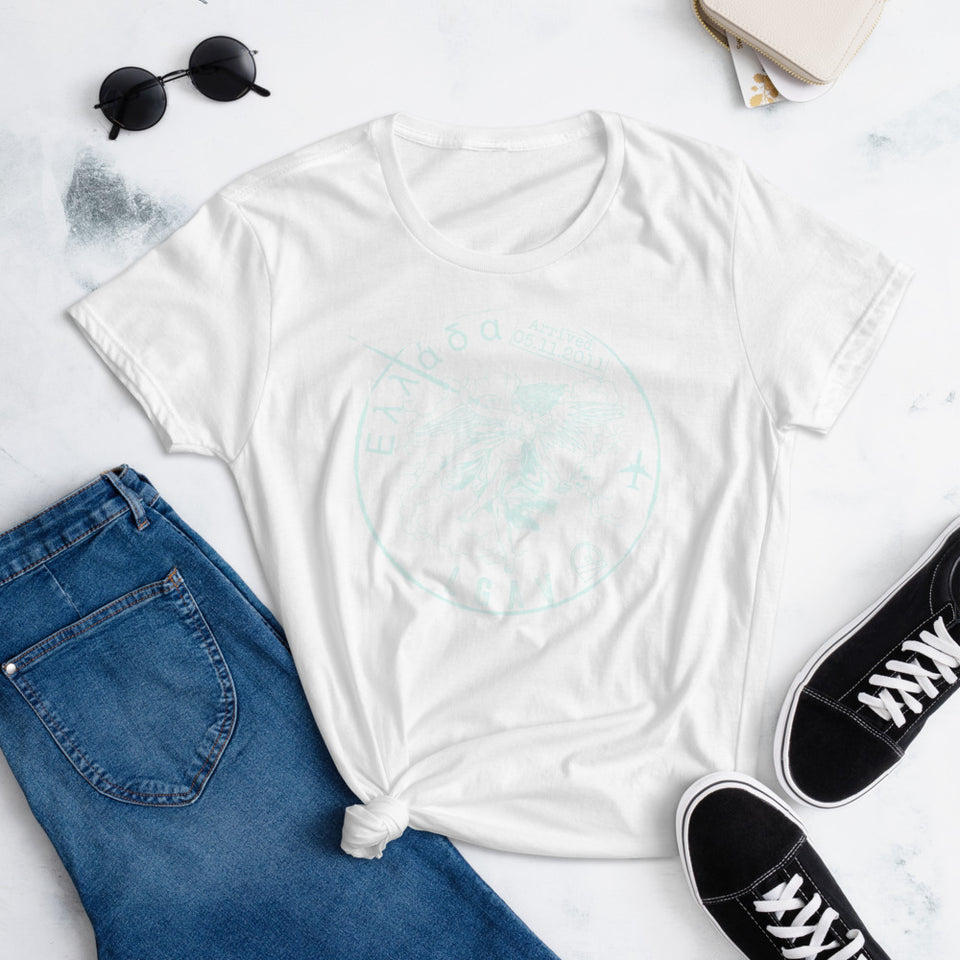 Graphic Tee •  Greece Passport Collection Women's Slim Fit Tee