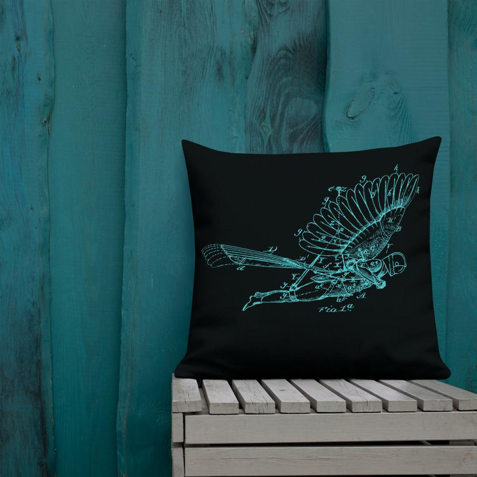 Dream of Flight Premium Pillow - Moondream Studios
