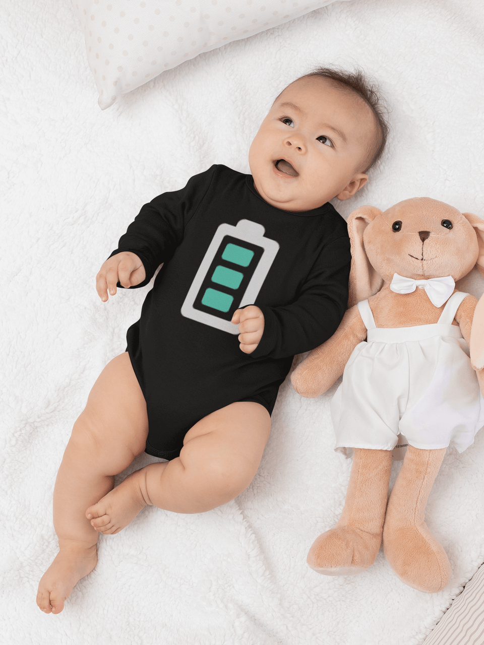 Full Charge Baby Onesie