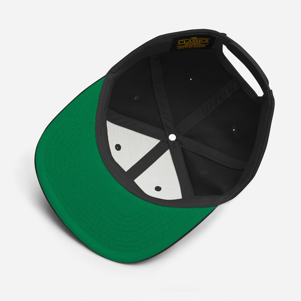 embroidery classic snapback cap