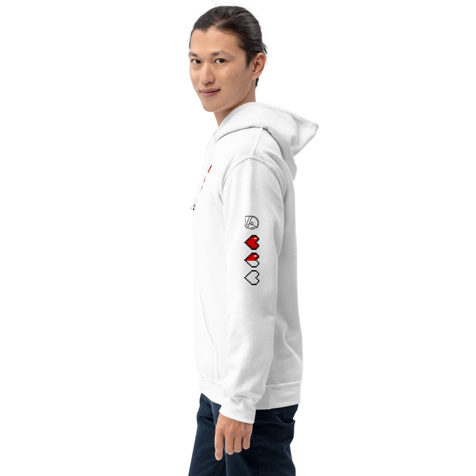 retro gamer graphic hoodie