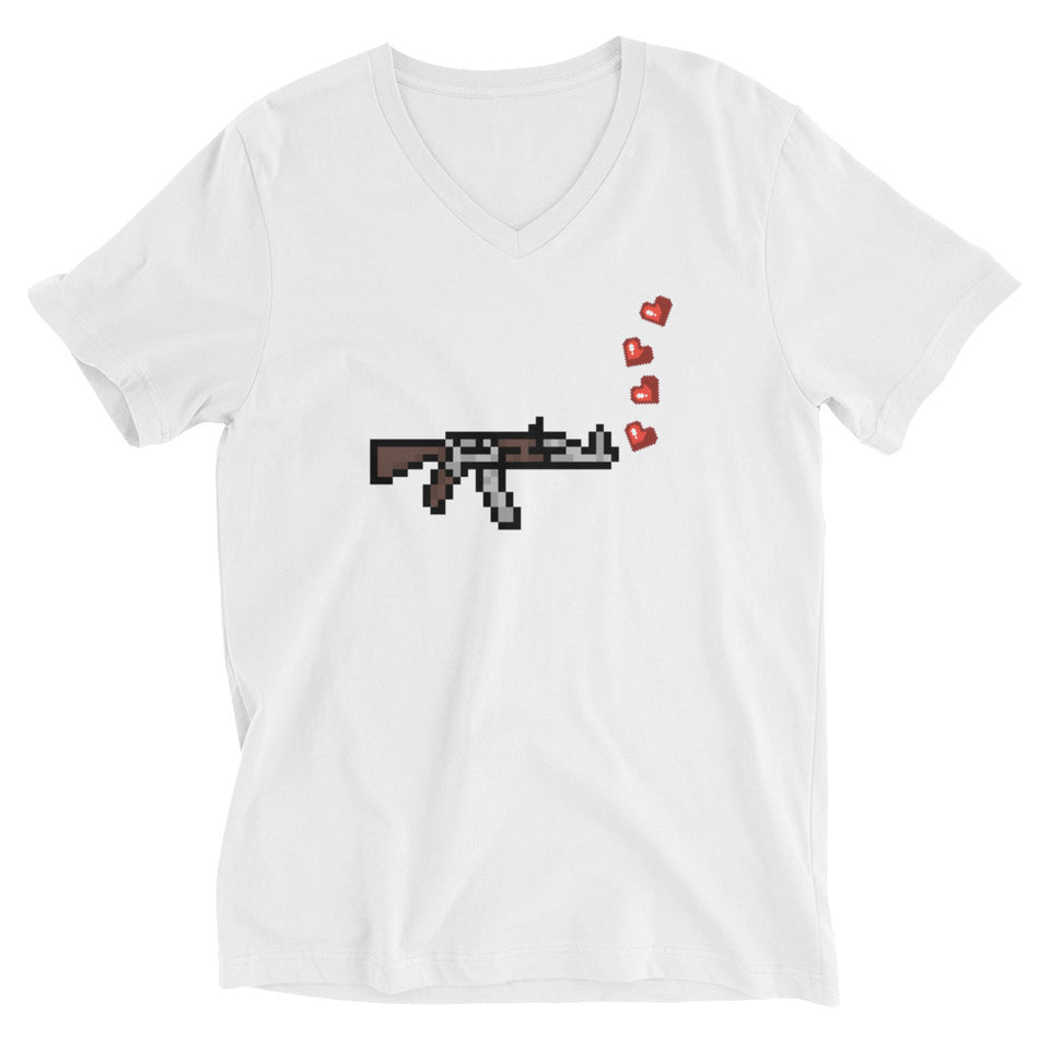 shoot them with love 8 bit graphic tee