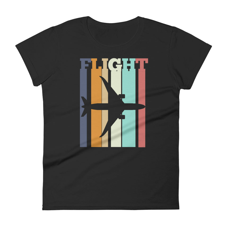 Women's custom dark aviation tee