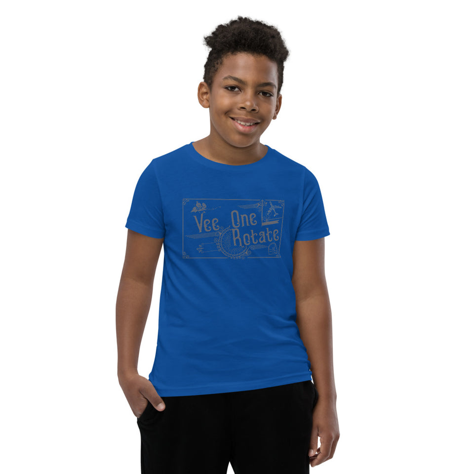 Vee One Rotate Youth Aviation Graphic T-Shirt