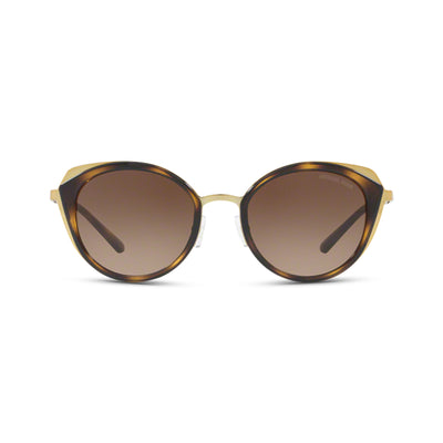 MICHAEL KORS Damen Sonnenbrille MK1029 116813 52 Shiny Pale Gold, Dark Tortoise Charleston