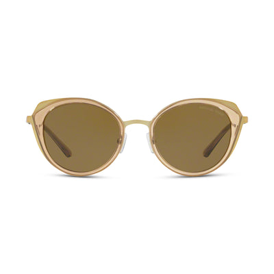MICHAEL KORS Damen Sonnenbrille MK1029 116873 52 Shiny Pale Gold Brown Transparent Charleston