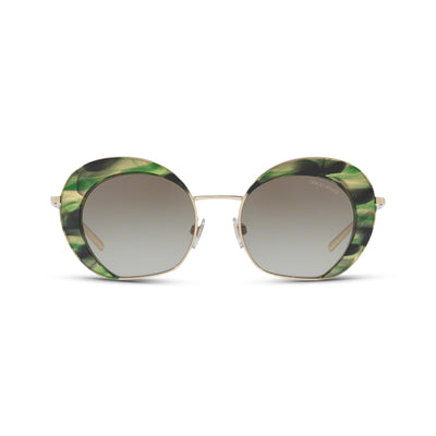 GIORGIO ARMANI Damen Sonnenbrille AR6067 30138E 50 Pale Gold/Striped Green