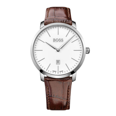 Hugo Boss Herren Uhr HB1513255 Signature - Swiss Made -