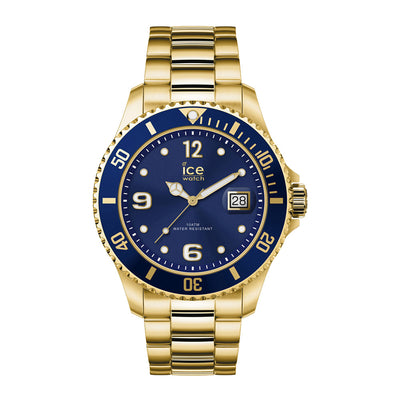 Ice-Watch Unisex Uhr IW016761 ICE steel - Gold Blue - Medium