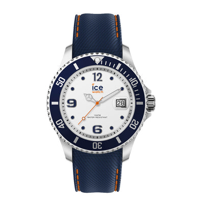 Ice-Watch Herren Uhr IW016772 ICE steel - White Blue - L